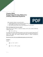 Runge-Kutta 4th Order Method for