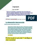 Noticias uruguayas 1 mayo 2011