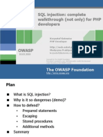Owasp SQL Injection en 100317143725 Phpapp02