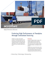 Accenture Panalpina Centralized Sourcing