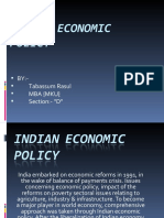 Indian Economic Policy