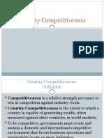 Country Competitiveness Presentatios