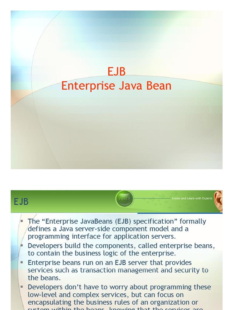 Ejb enterprise java beans component based software engineering baditri Images
