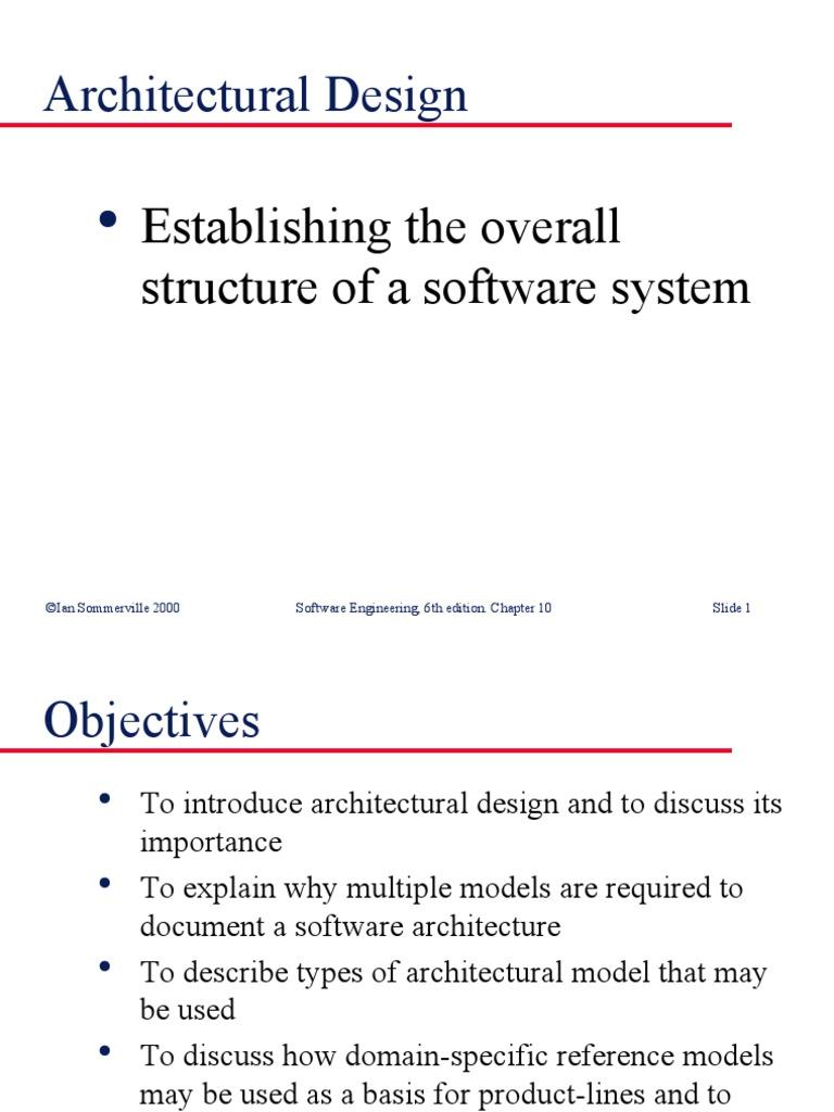 Architectural Design | Compiler | Software Architecture