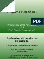 Programa Publicidad II