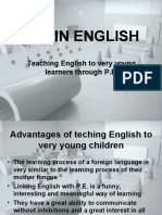 Teaching English to Very Young Learners