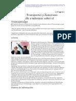 0 -2006, 10 11 - La Tercera - Ministro y Zamorano salen a la calle a informar sobre el Transantia