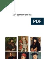 16th Century Events