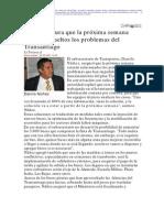 2 20  La Tercera - Danilo Nuñez asegura que la próxima semana estarán resueltos los problemas del