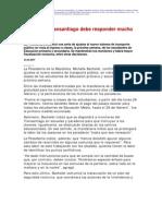2 23  La Nación - Bachelet - Transantiago debe responder mucho mejor