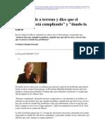 2 27  La Tercera - Bachelet sale a terreno y dice que el gobierno está la cara