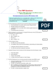 Free PMP Questions