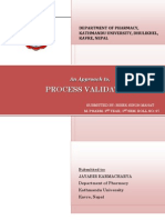 AN APPROACH TO PROCESS VALIDATION