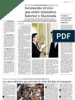 7 31  La Tercera - Documento desconocido Metro revive pugna entre ministros de Interior y Haciend