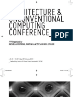 Architecture and Unconventional Computing Conference-Rachel Armstrong Martin Hanczyc and Neil Spiller