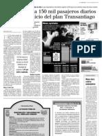9.3 La Tercera - Metro Traslada 150 Mil Pasajeros Diarios
