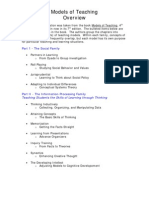 Models of Teaching Overview