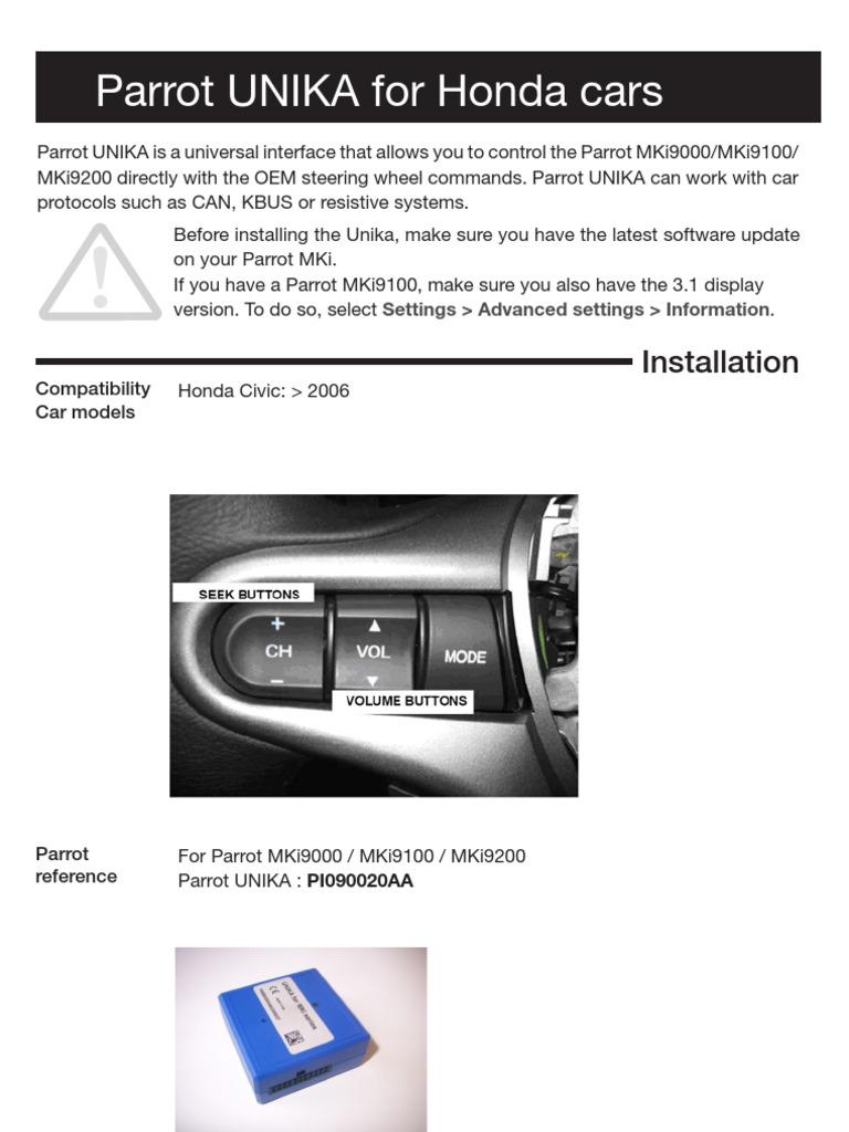 Parrot Mki9200 Installation Wiring Diagram Free Download Wiring