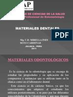 Primera Clase de Materiales Dentales