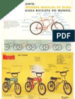 Catálogo de bicicletas antigas Monark