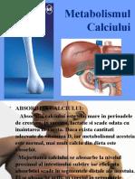 Metabolismul Calciului