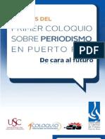 Sinopsis del Primer Coloquio sobre Periodismo en Puerto Rico