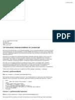 10 Funciones Imprescindibles en Javascript