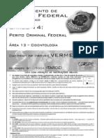 DPF Perito Odonto Cargo14 Vermelho
