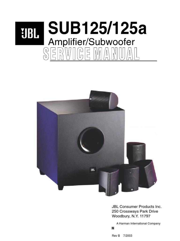 jbl sub125 loudspeaker amplifier rh pt scribd com