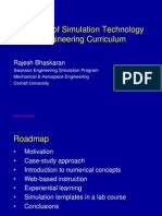 Integration of Simulation Technology Into the Engineering Curriculum