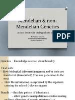 Mendelian &  Non-Mendelian Genetics