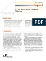 The Effects of Day Care on the Social-Emotional Development of Children