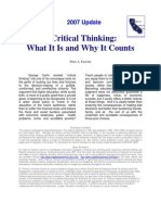 Critical Thinking - What It Is and Why It Counts