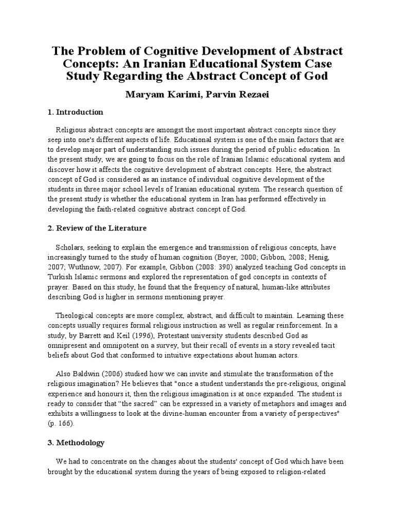 cognitive development case study