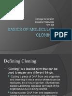 Basics of Molecular Cloning