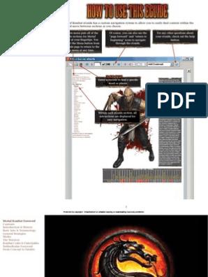 Mortal Kombat 9 (2011) Prima Guide | Characters Created