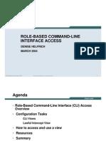 Cisco Role Based CLI