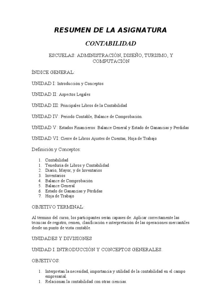 Fantástico Objetivos De Resumen Contable Colección de Imágenes ...