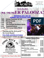 Memorial Day Summerpalooza Poster
