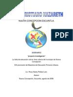 La falta de educación vial en área urbana del municipio de Nueva Concepción