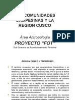 Las Comunidades Campesinas y La Region Cusco