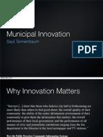 Municipal Innovation
