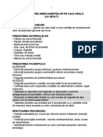 ADMINISTRAREA MEDICAMENTELOR PE CALE ORALA