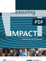 Measuring Impact Framework Methodology