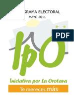 IpO - Programa Electoral 2011