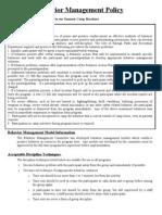Behavior Management Policy-2011