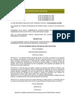 Ley de Hacienda Para El Estado de San Luis Potosi