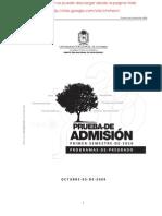 2010-1 examen de admision universidad nacional de colombia 2010-I sin respuestas