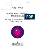 Abstract Pre Opening Marketing 2010