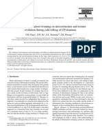 Effect of Deformation Twinning on Micro Structure and Texture Evolution During Cold Rolling of CP Titanium